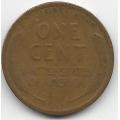 """1 цент. 1919 г. США. (""""Пшеничный"""" цент). 19-5-210"""