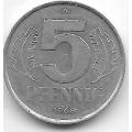 """5 пфеннигов. 1968 г. ГДР. """"A"""". 14-4-443"""