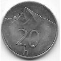 20 геллеров. 2002 г. Словакия. Гора Кривань. 8-2-452