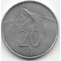 20 геллеров. 1996 г. Словакия. Гора Кривань. 8-2-454