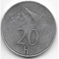 20 геллеров. 1999 г. Словакия. Гора Кривань. 8-2-456