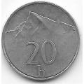 20 геллеров. 2000 г. Словакия. Гора Кривань. 8-2-457