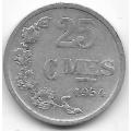 25 сентимов. 1954 г. Люксембург. 7-1-643
