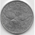 5 франков. 2004 г. Новая Каледония. Кагу. 7-4-543