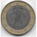 "1 евро. 2002 г. Германия. ""G"". 6-4-504"