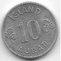 10 эйре. 1971 г. Исландия. 4-5-278