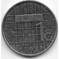1 гульден. 1993 г. Нидерланды. Королева Беатрикс. 18-5-314