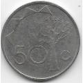50 центов. 1993 г. Намибия. 1-8-05