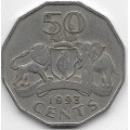 50 центов. 1993 г. Свазиленд. 1-8-06