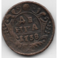 Денга. 1738 г. Российская Империя. 1-8-22