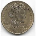 1 песо. 1990 г. Чили. Бернардо О'Хиггинс. 10-1-647