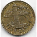 5 центов. 1979 г. Барбадос. Маяк. 10-1-677