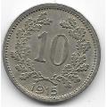10 геллеров. 1915 г. Австро-Венгрия. 12-1-353