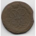 2 копейки. 1759 г. Российская Империя. 12-4-444