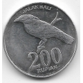 200 рупий. 2003 г. Индонезия. Балийский скворец. 15-6-326