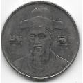 100 вон. 1995 г. Южная Корея. Ли Сун Син. 14-1-835