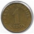 1 крона. 2001 г. Эстония. 10-1-684