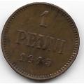 1 пенни. 1915 г. Русская Финляндия. 14-5-344