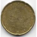 20 евроцентов. 2008 г. Кипр. 6-1-785