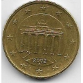 """10 евроцентов. 2002 г. Германия. """"A"""". Бранденбургские ворота. 18-2-222"""