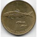 1 толар. 1998 г. Словения. Ручьевая форель. 18-5-322