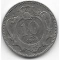 10 геллеров. 1895 г. Австро-Венгрия. 16-4-450