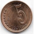 5 сентимо. 2009 г. Венесуэла. 7-1-675