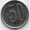 50 сентимо. 2012 г. Венесуэла. 7-1-678