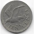10 центов. 1987 г. Барбадос. Чайка. 3-7-21