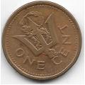 1 цент. 2008 г. Барбадос. Магнитная. 3-7-36