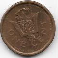 1 цент. 2009 г. Барбадос. 3-7-37