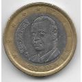 1 евро. 2005 г. Испания. Хуан Карлос I де Бурбон. 3-7-52