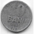 10 бани. 2010 г. Молдова. 1-8-80