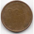 2 евроцента. 2008 г. Кипр. 2-8-21