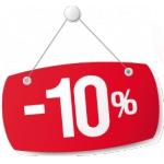 Акция - скидка 10% на все товары!