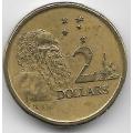 2 доллара. 1988 г. Австралия. Абориген. 12-2-738
