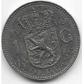 1 гульден. 1969 г. Нидерланды. Королева Юлиана. 12-2-751