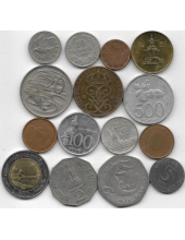 Набор иностранных монет (Европа, Азия, Африка, Океания).