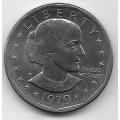 """1 доллар. 1979 г. """"S"""". США. Сьюзен Энтони. 10-4-824"""