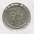 25 эре. 1952 г. Швеция. Серебро. 9-5-10