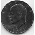 """1 доллар. 1971 г. США. """"Доллар Эйзенхауэра"""". 7-7-232"""