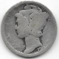 1 дайм (10 центов). 1918 г. США. Серебро. 9-1-1528