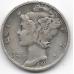 1 дайм (10 центов). 1940 г. США. S. Серебро. 9-1-1529