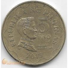 5 песо. 2013 г. Филиппины. Э.Акуинальдо. 18-2-252