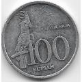 100 рупий. 1999 г. Индонезия. Какаду. 18-2-253