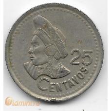 25 сентаво. 1996 г. Гватемала. 18-2-264
