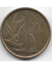 20 франков. 1981 г. Бельгия (на фламандском). 4-4-475