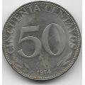 50 сентаво. 1974 г. Боливия. 14-3-451