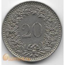 20 раппен. 1961 г. Швейцария. 14-4-491