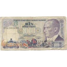 Турция. 1000 лир. 1970 (1986) г. Б-1931